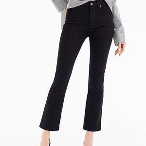 J Crew Billie Black Demi Boot Crop Jeans